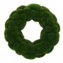 Moss wreath, flocked, D32cm, green